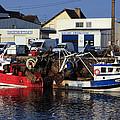 Colorful Fishing Boats by Aidan Moran
