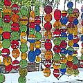 Colorful Fishing Floats by Rebecca Korpita