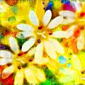 Colorful Floral Abstract - Digital Paint by Debbie Portwood