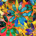 Colorful Floral Abstract IIi by Debbie Portwood