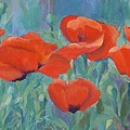 Colorful Flowers Red Poppies Beautiful Floral Art by K Joann Russell