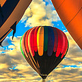 Colorful Framed Hot Air Balloon by Robert Bales