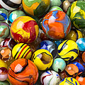 Colorful Glass Marbles by Garry Gay