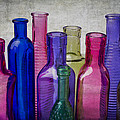 Colorful Group Of Bottles by Garry Gay