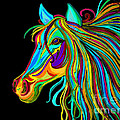 Colorful Horse Head 2 by Nick Gustafson