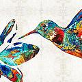 Colorful Hummingbird Art By Sharon Cummings by Sharon Cummings
