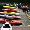 Colorful Kayaks At Whistler Bc by Carlene Salazar