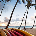 Colorful Kayaks On Beach In The Caribbean by Matteo Colombo