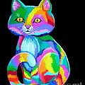 Colorful Kitten by Nick Gustafson