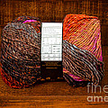 Colorful Knitting Yarn In A Wooden Box by Les Palenik