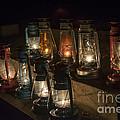 Colorful Lanterns At Night by Jeffrey Miklush