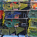 Colorful Lobster Traps by Mike Martin