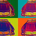 Colorful Mercedes Benz 300 Sl Convertible Popart by Keith Webber Jr
