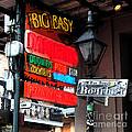 Colorful Neon Sign On Bourbon Street Corner French Quarter New Orleans Fresco Digital Art by Shawn O'Brien
