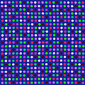 Colorful Polka Dots On Blue Fabric Background by Keith Webber Jr