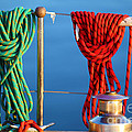 Colorful Rope Detail On Yacht by Konstantin Sutyagin