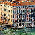 Colorful Rotten Palace In Venice Italy  by M Bleichner