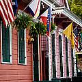 Colorful Row Houses by Susie Hoffpauir