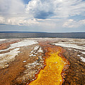 Colorful Runoff From Black Pool Leads To Yellowstone Lake by Bryan Mullennix