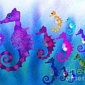 Colorful Sea Horses by Nick Gustafson