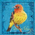 Colorful Songbirds 4 by Debbie DeWitt