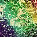 Colorful Splashing Pouring Water With Bubbles by Michal Bednarek
