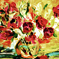 Colorful Spring Bouquet - Abstract  by Georgiana Romanovna
