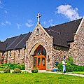 Colorful Stone Catholic Church In North Bay Of Lake Nipissing-on by Ruth Hager