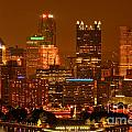 Colorful Summer Night In Pittsburgh by Adam Jewell