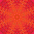 Colorful Sun Mandala by Peggy Collins
