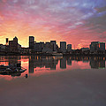 Colorful Sunset Over Portland Downtown Waterfront by Jit Lim