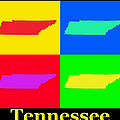 Colorful Tennessee Pop Art Map by Keith Webber Jr