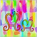 Colorful Texturized Alphabet Mm by Barbara Griffin