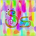 Colorful Texturized Alphabet Ss by Barbara Griffin