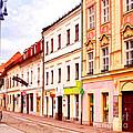 Colorful Town Homes by Les Palenik