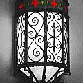 Colorful Vibrant Red Green Gothic Sconce Light Film Grain Color Splash Digital Art by Shawn O'Brien