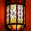 Colorful Vibrant Red Green Gothic Sconce Light by Shawn O'Brien