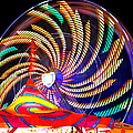 Colorful Wheel Of Lights by David Lee Thompson