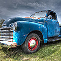Colorful Workhorse - 1953 Chevy Truck by Gill Billington