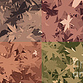 Colors Of Fall Leaves Abstract by Minding My  Visions by Adri and Ray
