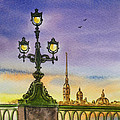 Colors Of Russia Bridge Light In Saint Petersburg by Irina Sztukowski