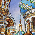 Colors Of Russia St Petersburg Cathedral II by Irina Sztukowski