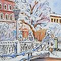 Colors Of Russia Winter In Saint Petersburg by Irina Sztukowski