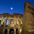 Colosseum And The Moon by Stefano Senise