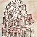 Colosseum Hand Draw by Domenico Condello