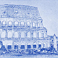 Colosseum of Rome Blueprint by Kaleidoscopik Photography