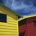 Coloured Beach Huts by Maria Heyens