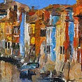 Coloured Houses On Burano by Dragica  Micki Fortuna