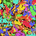 Coloured Oak Leaves By M.l.d. Moerings 2009 by Marion Moerings