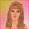 Coloured Pencil Self Portrait by Joan-Violet Stretch